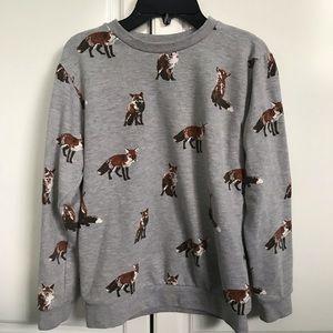F21 Fox Print Sweater